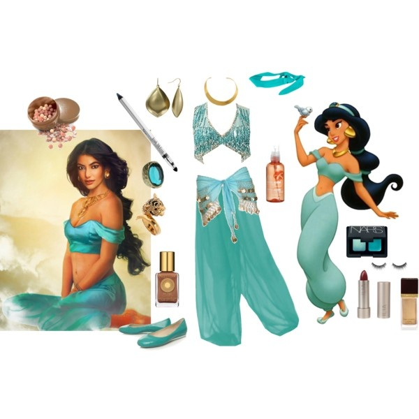 I was Jasmine 4 Halloween when I was little. With this I think I could pull off a sexy adult Jasmine ;)