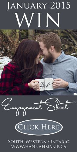 Contest: Win Your Engagement Shoot with Waterloo Wedding Photographer, Hannah Marie!  Enter at http://hannahmarie.ca/engagement-shoot-waterloo