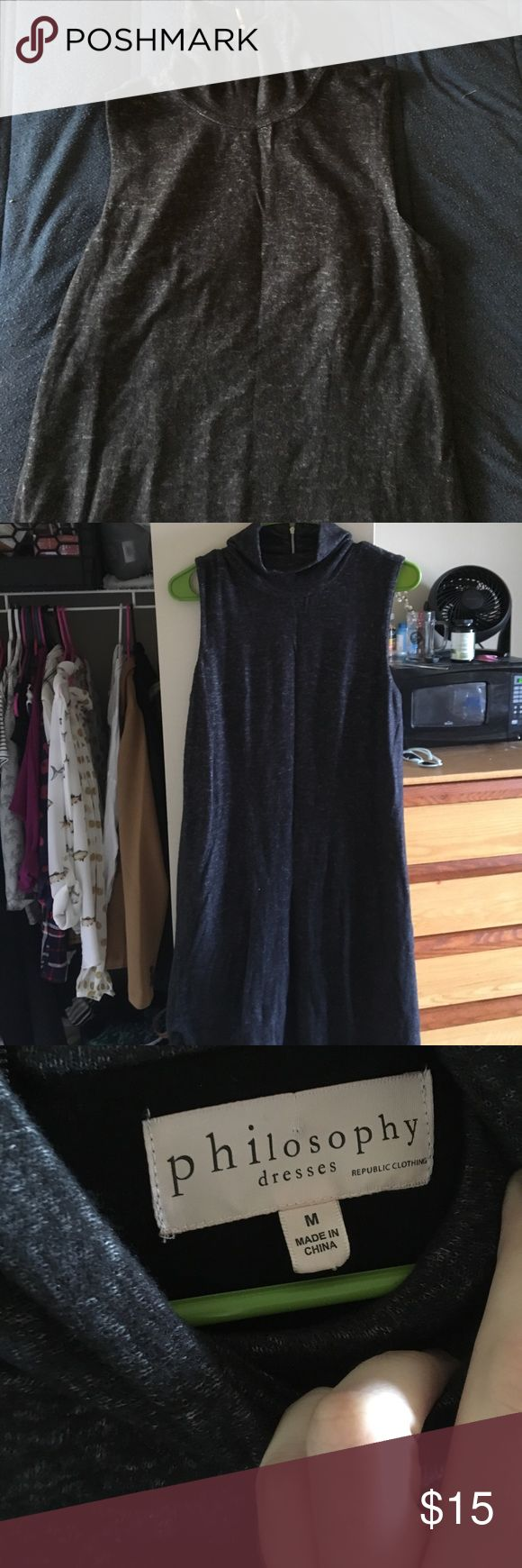 Philosophy Dress Dark grey dress. Very soft. Never worn but no tags Philosophy Dresses
