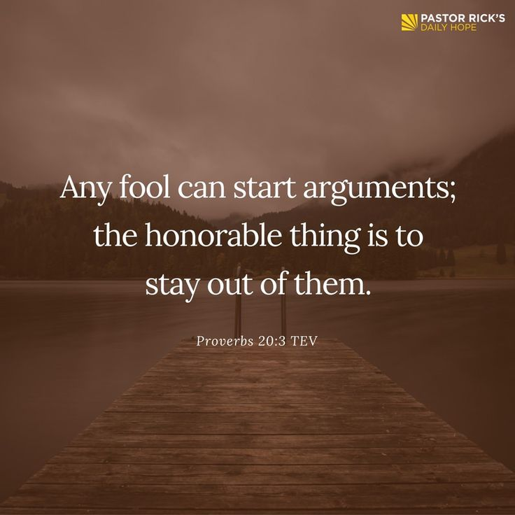Wise people are peacemakers, not troublemakers. Wise people don't carry a chip on their shoulder. They're not always looking for a fight, and they don't intentionally antagonize other people. Learn more in this devotional from Pastor Rick Warren.