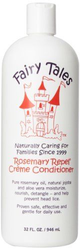 Fairy Tales All Natural Rosemary Repel Crème Conditioner - Organic lice-repelling kids hair products