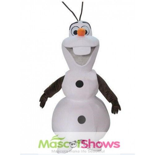 Frozen Olaf Mascot Costume consists of a head, sculptured suit, mittens and two shoe covers. Light weight, comfortable wearing, good permeability with clear sight. It is high quality and made by hand