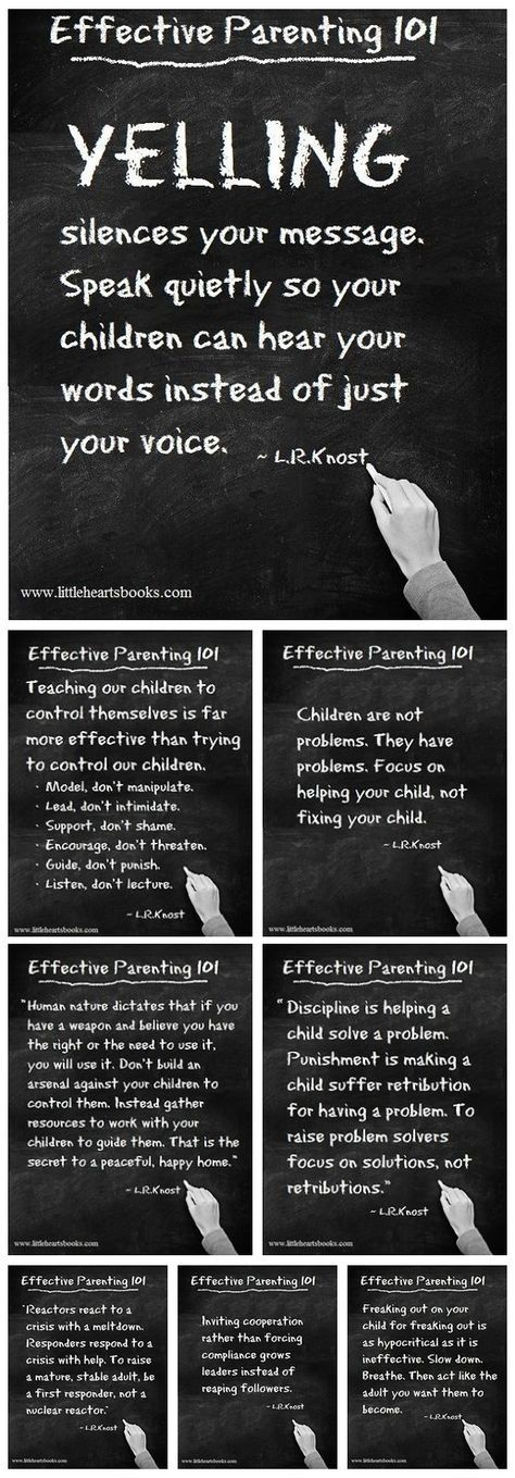 """Yelling silences your message..."" Effective Parenting 101 has lots of ideas to…"