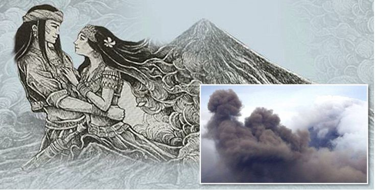 Holy smoke! Ash cloud recalls erupting volcanos tragic creation myth #philippines #news http://ift.tt/1CijO2m