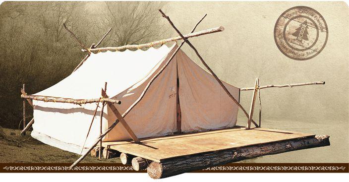 Wood Prospector Cotton Tent Camping Pinterest