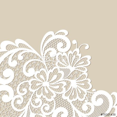 1000+ images about Lace pattern on Pinterest | Laser cut wedding invitations, Vector flowers and ...