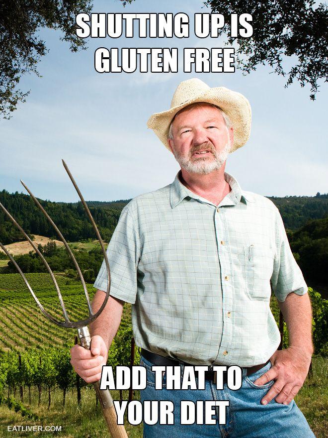 Shutting Up Is Gluten Free