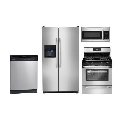 SS-4PC-ELE-KITPKG Frigidaire Stainless Steel 4 Piece Electric Kitchen Appliance Package
