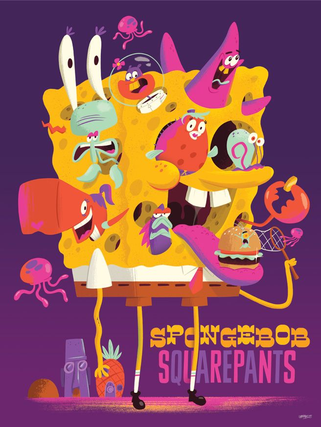 Nickelodeon Creator Series Posters - Christopher Lee - Sponge Bob
