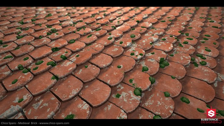 ArtStation - Medieval Roof Tile Substance, Chico Spans