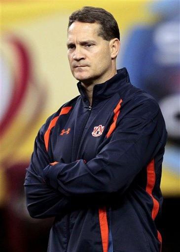 Auburn Football Coach Gene Chizik