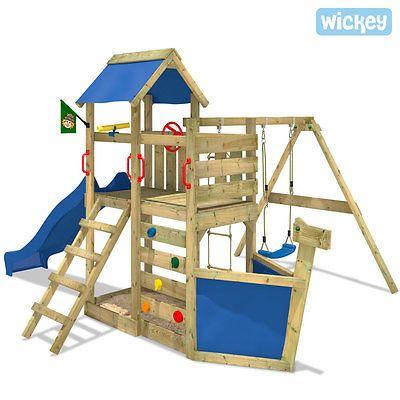 Stunning Details zu WICKEY SeaFlyer Spielturm Kletterturm Schiffsnase Schaukel Sandkasten Rutsche ChildrenGarden