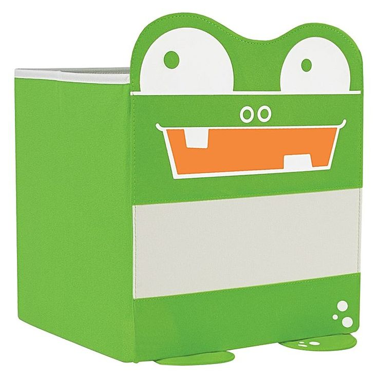 Make packing up toys, blocks and books a breeze with the ample storage of the Mess Eaters Cube Storage Bin, Green from P'Kolino.