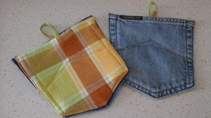 Presine fatte con tasche di jeans
