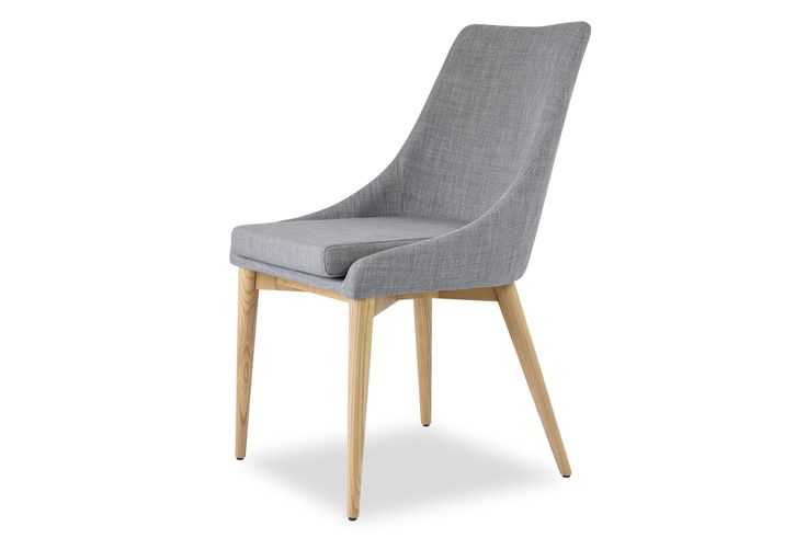 "Jessica Contemporary Dining Chair in Light Grey, Set of 2 Edloe Finch Furniture Co. EF-ZX-DC005LG - larger at 24"" wide"