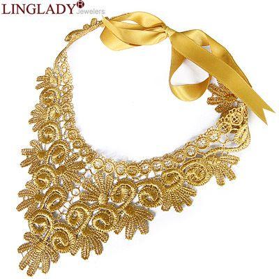 envío gratuito de los accesorios de la moda vintage de encaje de ganchillo collar falso collar de diseño corto se casó con la decoración de collar