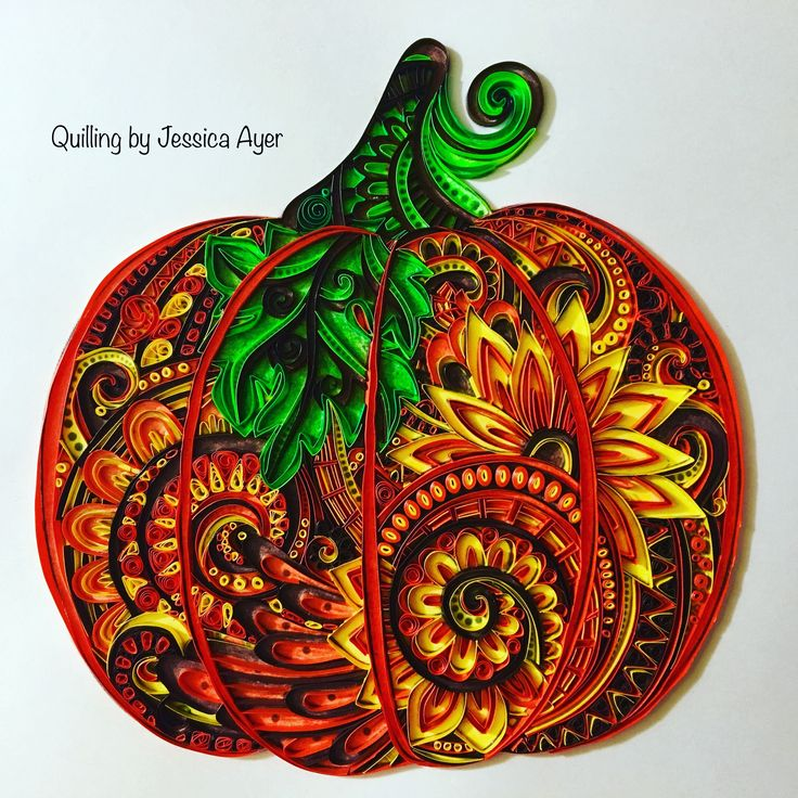 Quilling Fall Pumpkin 2016