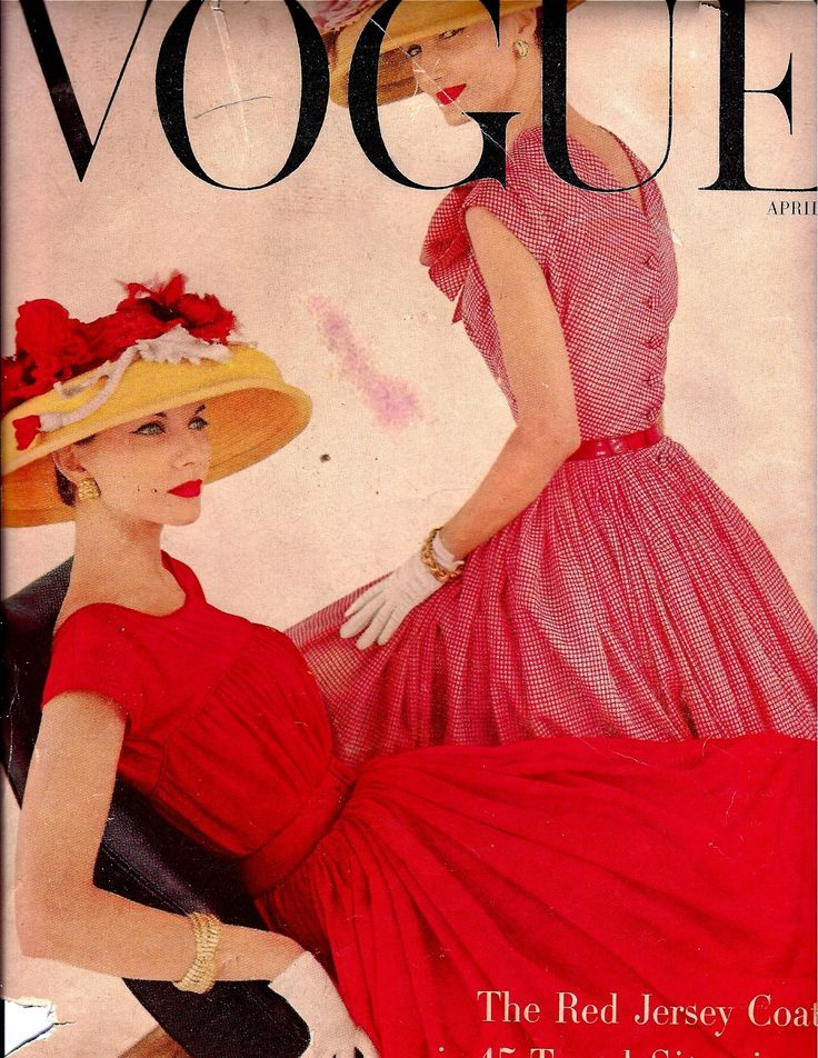 Vintage vogue magazine april 15, 1956                                                                                                                                                                                 More