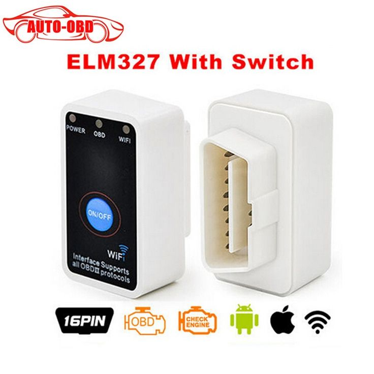 Super MINI ELM327 WIFI ON/OFF Switch V2.1 ELM327 WIFI OBD2/OBDII ELM 327 CAN-BUS Diagnostic Tool