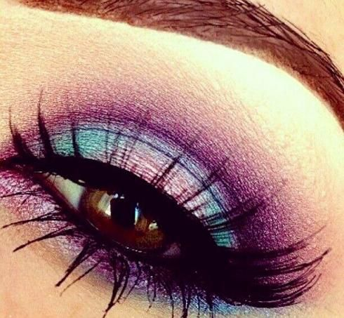 Blue and purple eyeshadow  #smokey #dark #bright #bold #eye #makeup #eyes