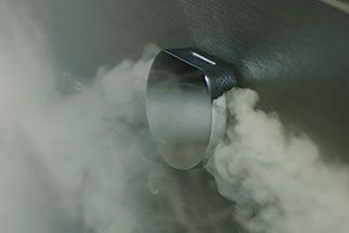 Cool-to-the-touch Mr. Steam steamhead for home steam showers.