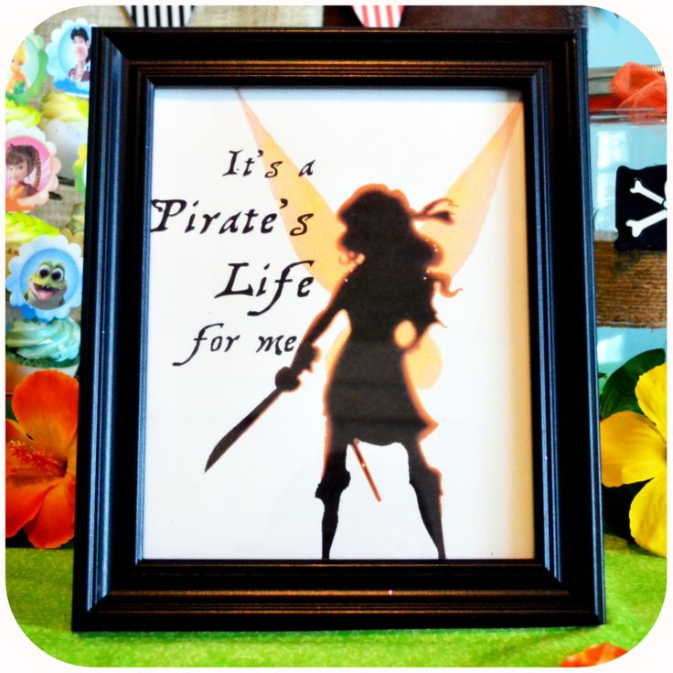 Disney Pirate Fairy Party - Zarina Sign on Etsy with Kraftsbykaleigh #kraftsbykaleigh #disneypiratefairy #tinkerbell