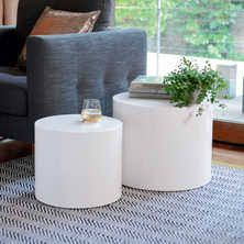 Image result for white gloss side table