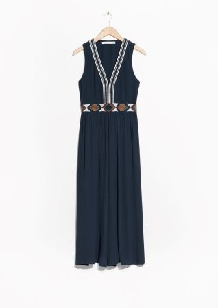 & Other Stories | Embroidered Maxi Dress