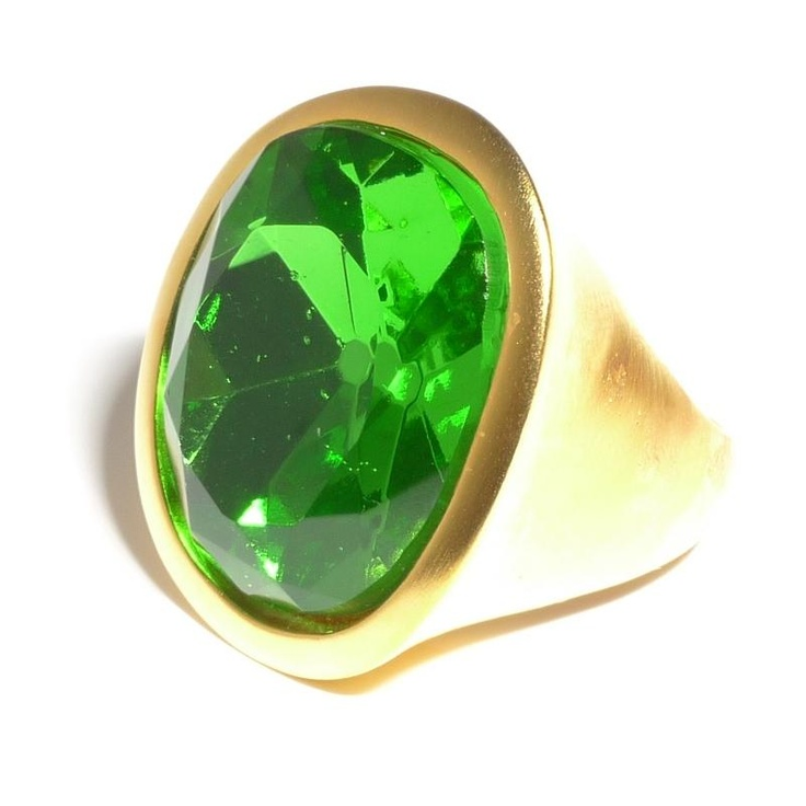 Kenneth Jay Lane Peridot Crystal Ring at aquaruby.com