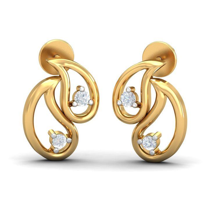 Gold & Diamond Earrings For Women. Certified & Hallmarked. Shop Online on KuberBox.com