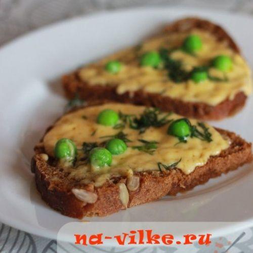 Бутерброды с сыром и зел…
