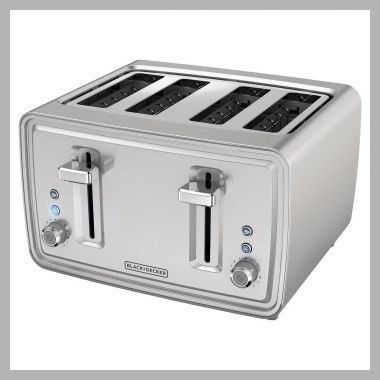 Black and decker 4 Slice Toaster - Stainless Steel (Silver) - Price History