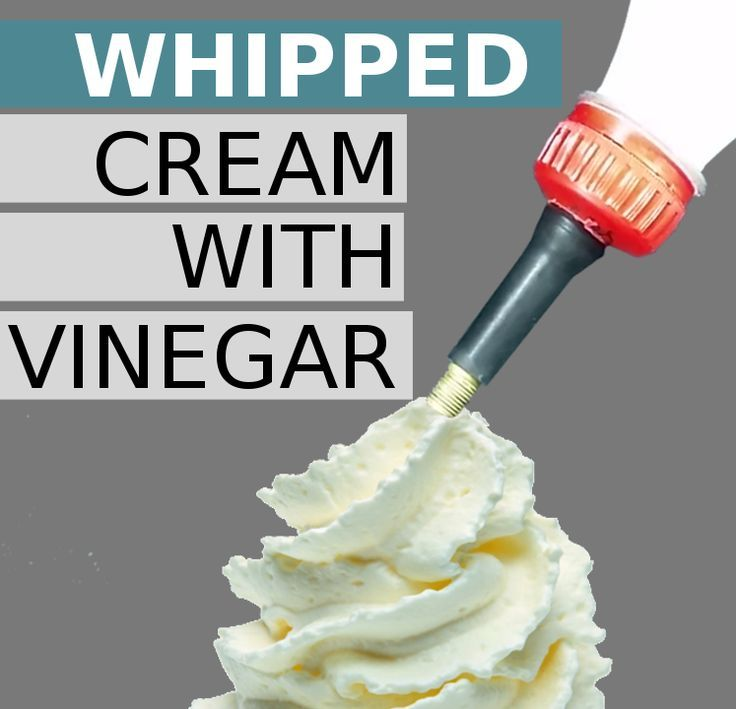 Make Whipped Cream With Vinegar   Vinegar, Frostings and Coffee creamer