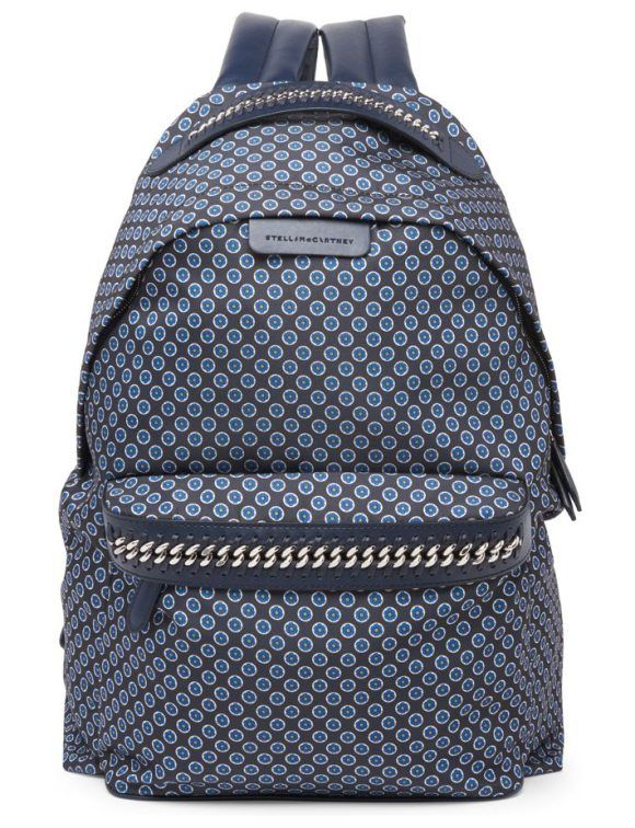 medium windsor tie-print nylon backpack by Stella McCartney. Eco-friendly nylon backpack with floral medallion motif. Top handle. Adjustable backpack straps. Zip-around closure. ...