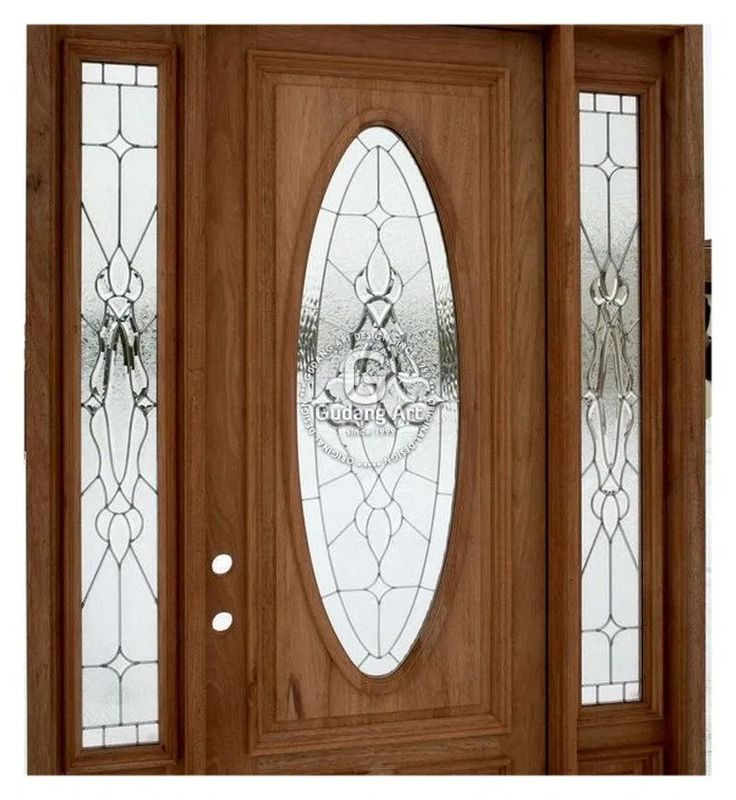 25 Desain Unik Pintu Kaca Patri di 2020   Pintu kayu ...