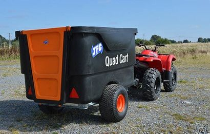 Rear view of ATV quad trailer with a capacity of 1200 litres. Suitable for ATV quad bikes, compact tractors, ride-on lawn mowers and UTVs. For more info contact us at http://www.fresh-group.com/trailers-trolleys-and-carts.html