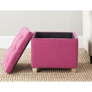 Shop for Safavieh Joanie Berry Pink Tufted Storage Ottoman. Get free shipping at Overstock.com - Your Online Furniture Outlet Store! Get 5% in rewards with Club O!