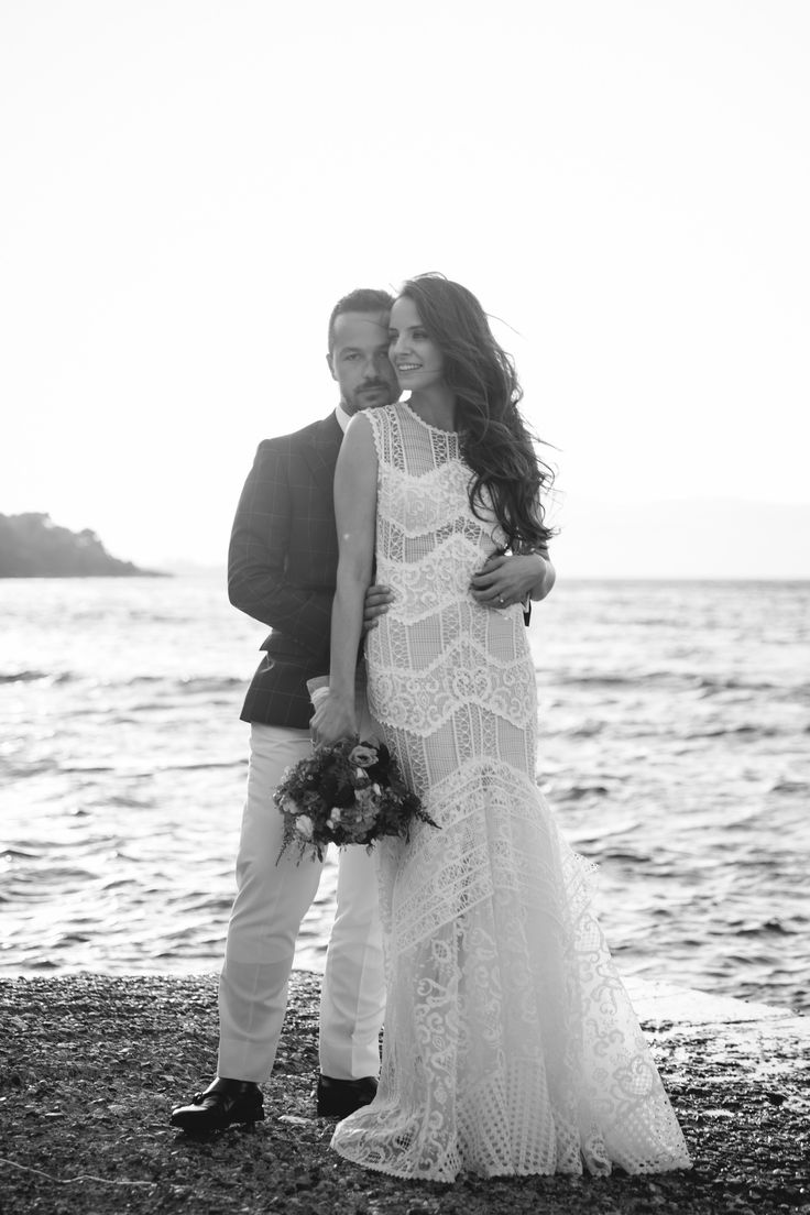 Chic Wedding photography Black&White sea| lafete