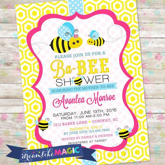 Bee Baby Shower Ba Sweet As Can By DreamlikeMagic Invitations