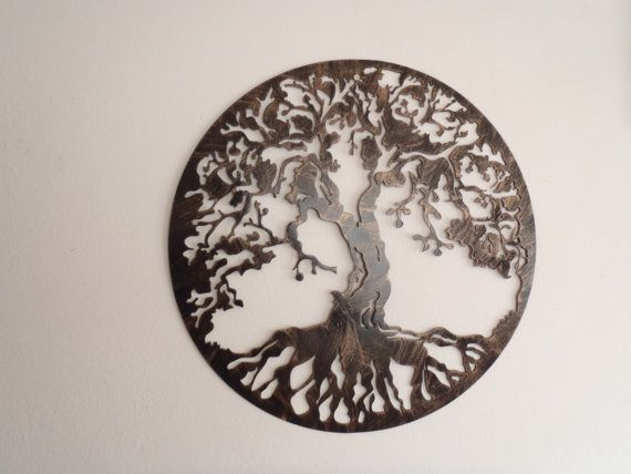 Tree Of Life Antique Look Wall decor Metal Art by Tibi291 on Etsy