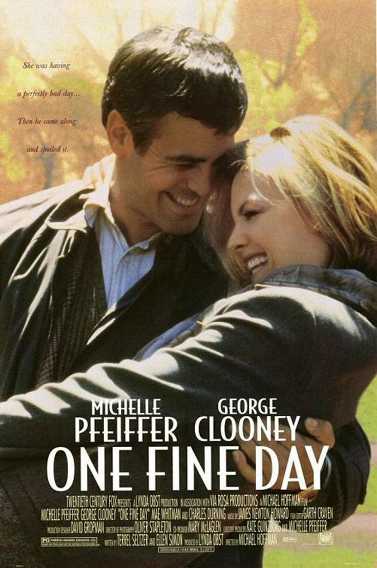 One Fine Day (1996) 1hr-48min  - Melanie Parker, an architect and mother of Sammy, and Jack Taylor, a newspaper columnist and father of Maggie, are both divorced. They meet one morning when overwhelmed Jack is left unexpectedly with Maggie and forgets that Melanie was to take her to school. As a result, both children miss their school field trip and are stuck with the parents. The two adults end up needing to rely on each other to watch the children as each must save his job.