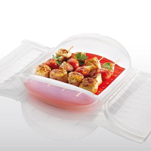 Brochetas de pollo con verduras | Recetas microondas,Recetas de carne,Segundos platos,Microondas,Horno | Recetas Lékué