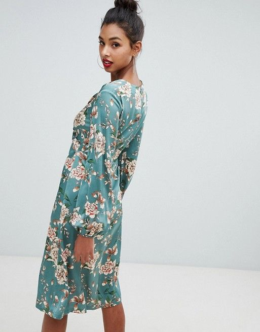 f78305afa80f Boohoo wrap midi dress in floral print | N2N | Floral prints ...