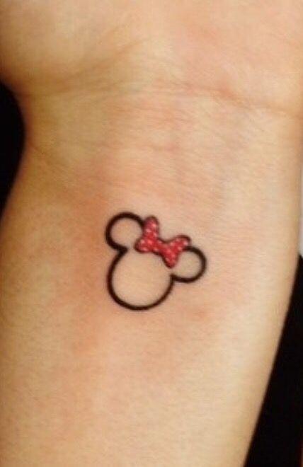 Minnie Mouse tattoo idea.