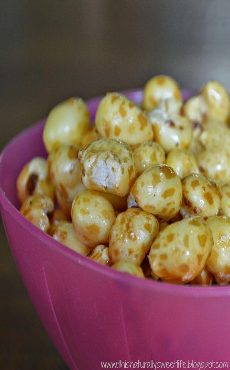 Honey Vanilla Puffed Corn -- Refined Sugar Free, Gluten Free, and Allergy Friendly