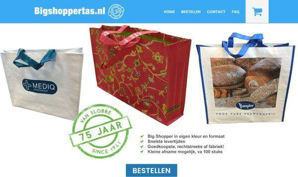 Boodschappentas bigshopper bedrukken. Eigen kleur en formaat. min afname 100 st. Check: www.bigshoppertas.nl