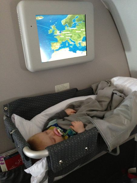 Traveling on a plane with a baby