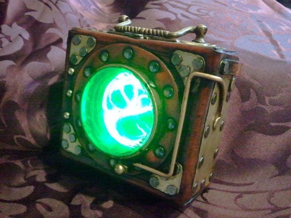 Steampunk Plasma Pouch - A great little gadget accessory inspired by fallout - bioshock games