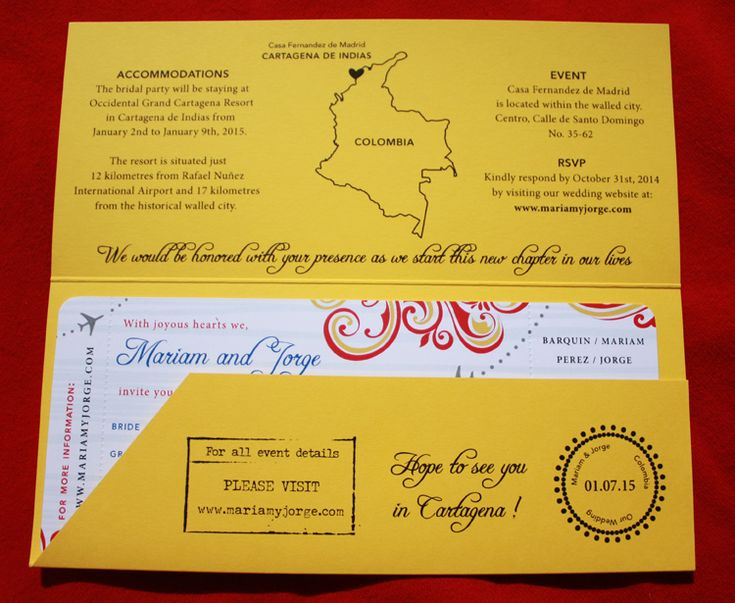 23 best invitaciones images on Pinterest Invitations, Bridal - airline ticket template free