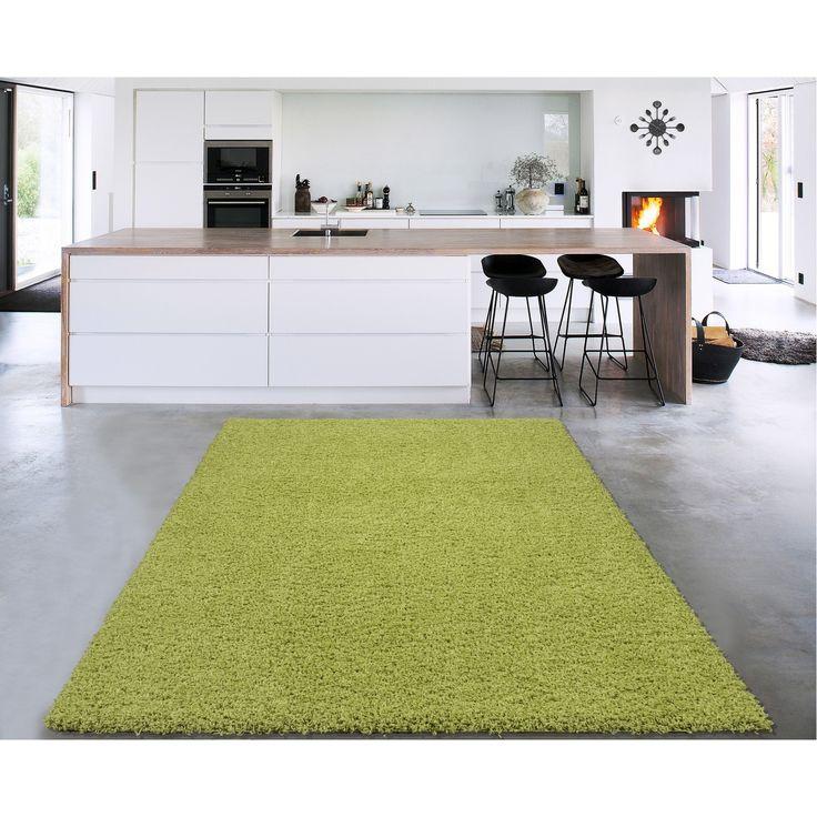 Sweet Home Cozy Shag Collection Solid Shag Rug (5' x 7') - 5' x 7' (Green Shag), Grey, Size 5' x 7' (Polypropylene, Plaid)